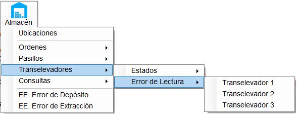Opción error de lectura