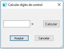 16.2 Opción calculadora digito de control