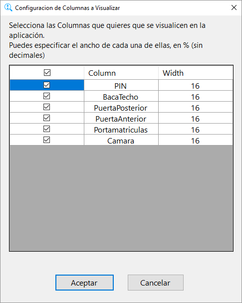 HLineScreenViewer. Columns To Show