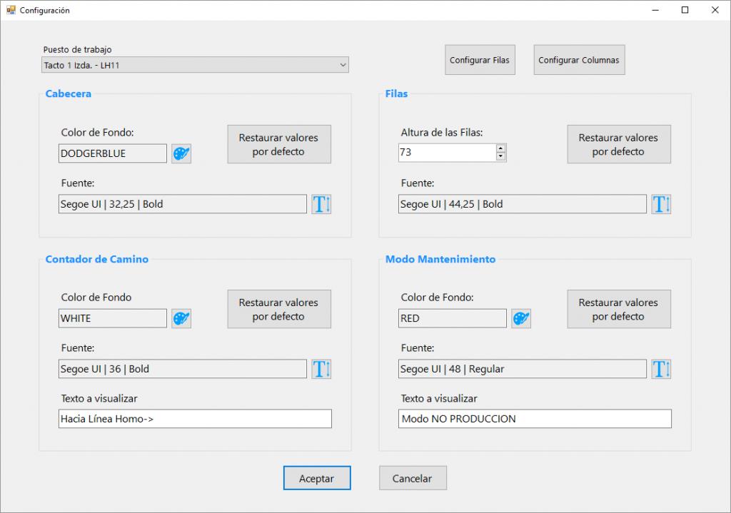 HLineScreenViewer Settings para todos tactos y gaps