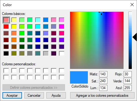 Cambio de color